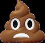 Pile of poop frowning emoji