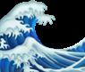 Ocean wave emoji